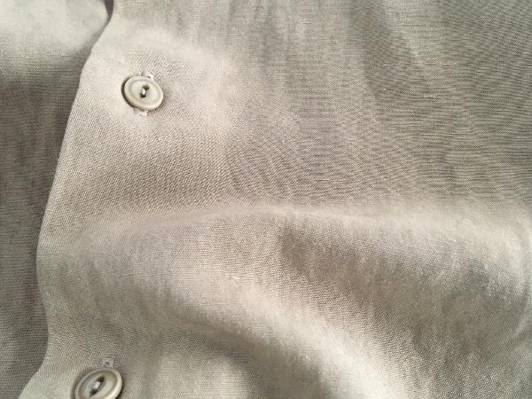 WEWILL ウィーウィル ノーカラーシャツ beige 6.jpg