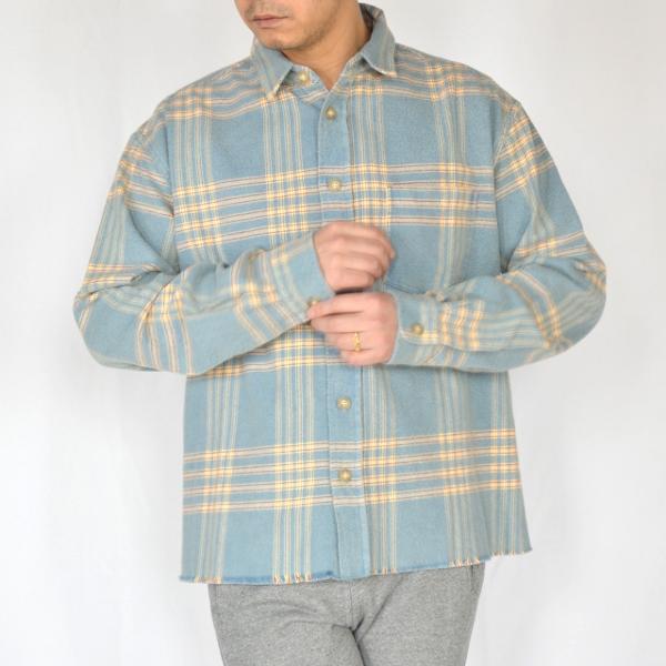 JOHN ELLIOTT ジョンエリオット Hemi oversized shirt speedway check 3.jpg