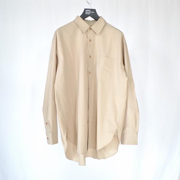 WEWILL ウィーウィル シャツ beige 1.jpg