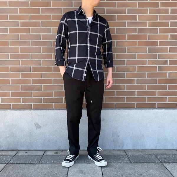 ANEI アーネイ SIDE SLIT PANTS サイドスリット パンツ ブラック 1.jpg