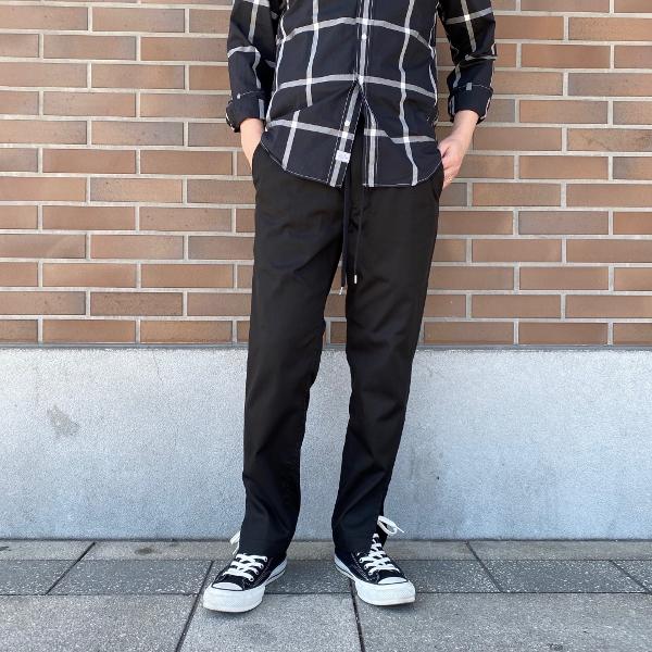 ANEI アーネイ SIDE SLIT PANTS サイドスリット パンツ ブラック 5.jpg