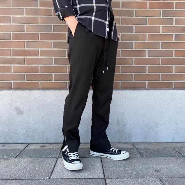 ANEI アーネイ SIDE SLIT PANTS サイドスリット パンツ ブラック 6.jpg