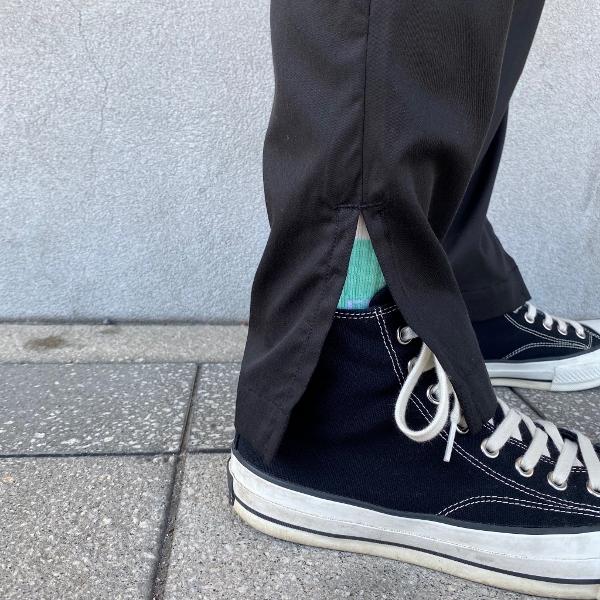 ANEI アーネイ SIDE SLIT PANTS サイドスリット パンツ ブラック 9.jpg