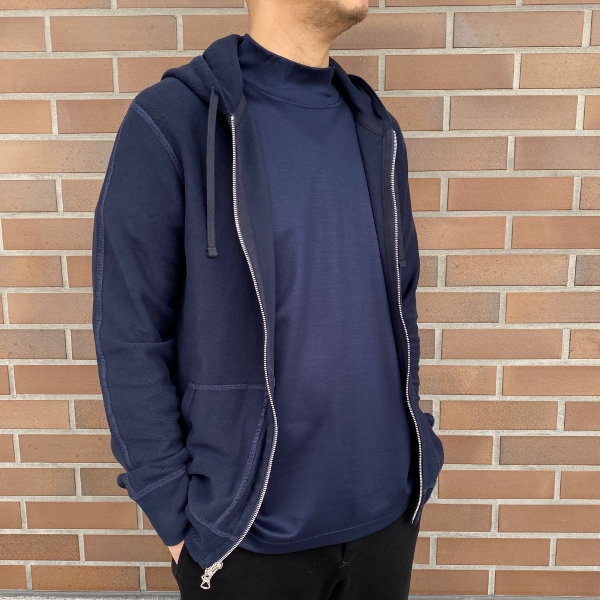 REIGNING CHAMP レイニングチャンプ FULL ZIP HOODIE REVERSE TWILL TERRY NAVY 2.jpg