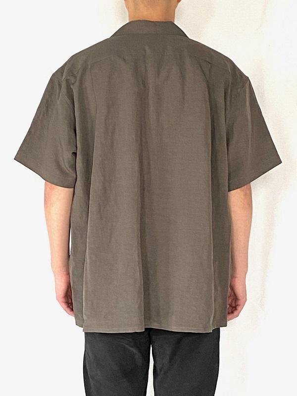 WEWILL ウィーウィル オープンカラーシャツ グレー 通販 6.jpg