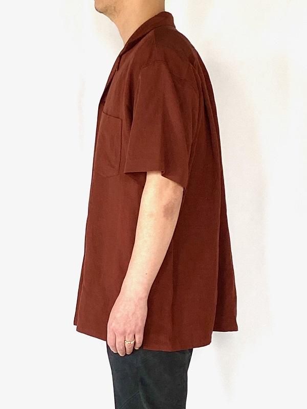 WEWILL ウィーウィル オープンカラーシャツ テラコッタ 通販 5.jpg