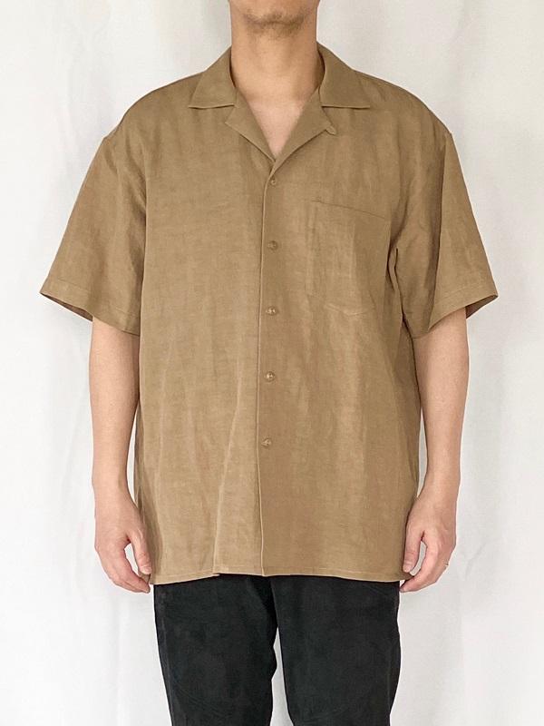 WEWILL ウィーウィル オープンカラーシャツ ベージュ 通販 4.jpg