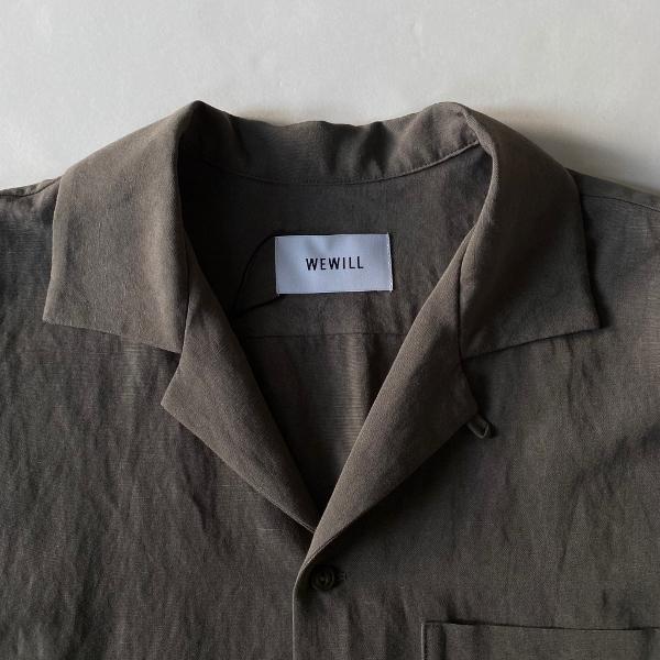 WEWILL ウィーウィル オープンカラーシャツ グレー 通販 3.jpg