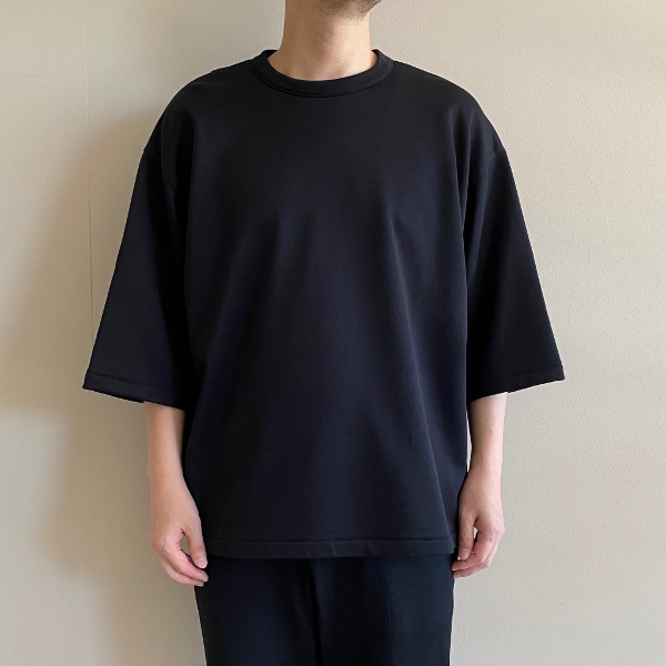 WEWILL ウィーウィル 5分袖スウェット W-006-8008 Black 1.jpg