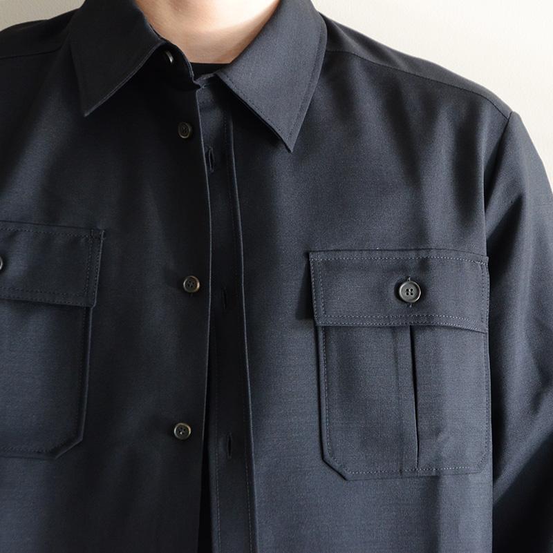 Acne Studios アクネストゥディオズ Sumaco Wo Mh ウールシャツ 2.JPG