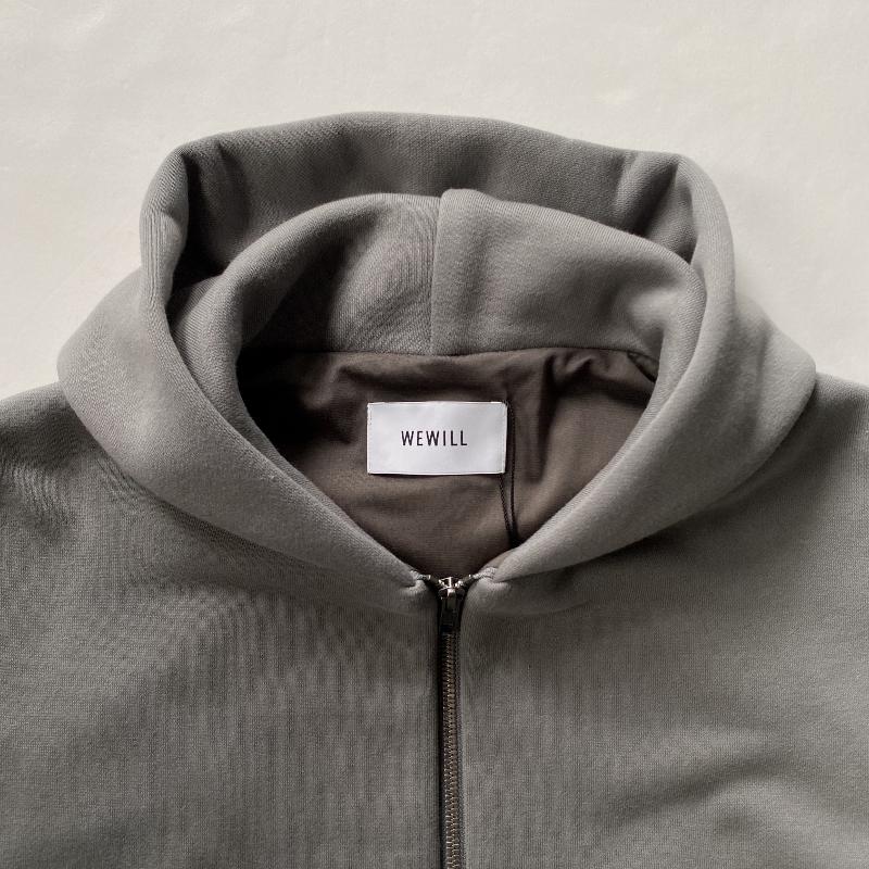 WEWILL ウィーウィル W-007-8005 ジップアップパーカ グレー 1