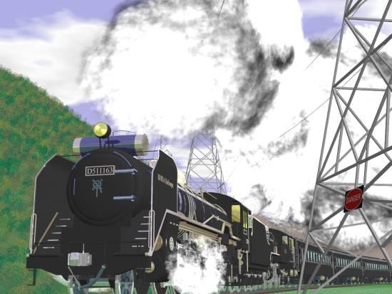 D51とC11の重連と客車−その2(小)