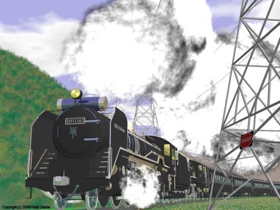 D51とC11の重連と客車−その3(小)