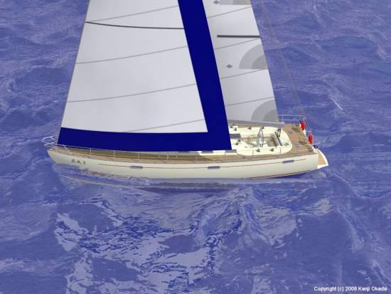 スタボータックのクローズホールドで帆走る