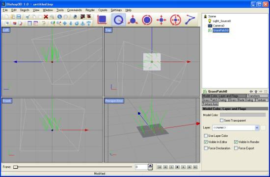 GrassPatch plugin で追加されたオブジェクト