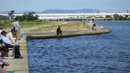 武庫川、ハゼ釣り