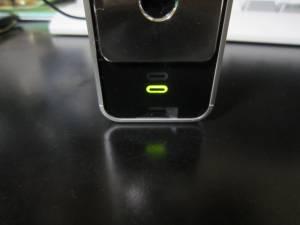 緑点灯、フル充電