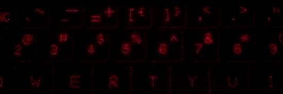 投影されたキーボード