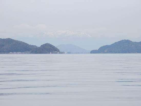 沖島と霊仙山