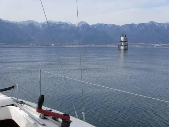志賀沖観測塔の南