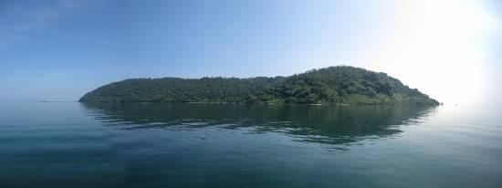 沖島北岸の森と水際 小サイズ