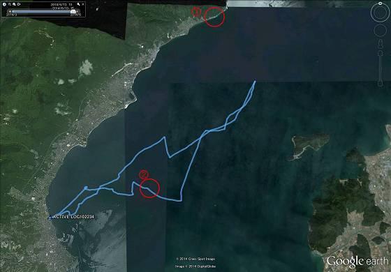 琵琶湖セーリング航跡 小サイズ