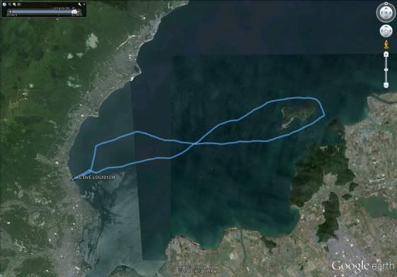 琵琶湖セーリング航跡
