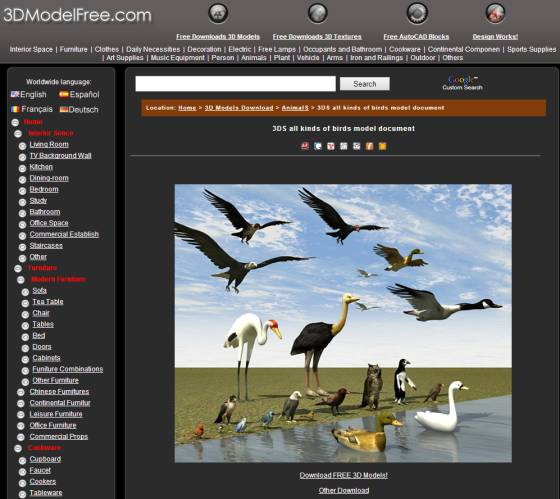 3DS all kinds of birds model document 3D Model Download,Free 3D Models Download_ts.jpg