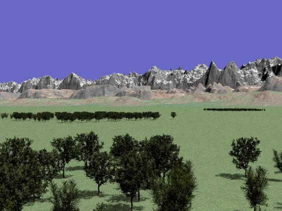 山脈と森と草原