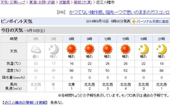 近江八幡市の天気 - Yahoo!天気・災害_2014-09-13_ts.jpg