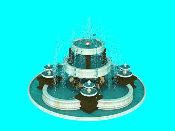 2つの噴水から作った新しい噴水