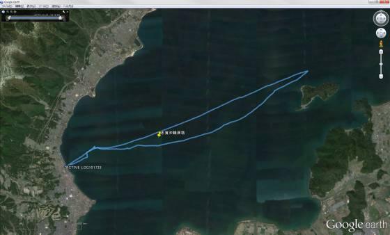 琵琶湖セーリング 軌跡