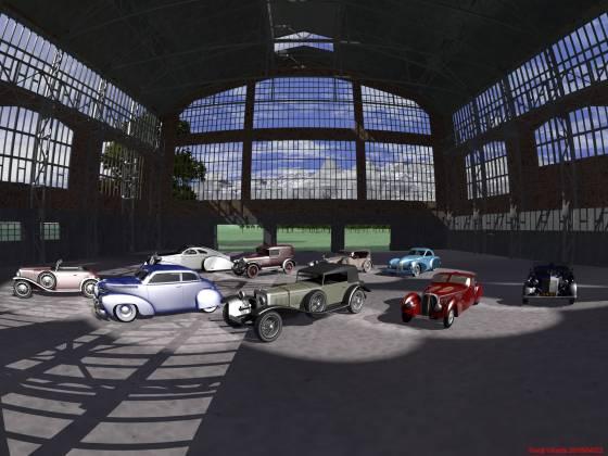クラシックカーの車庫