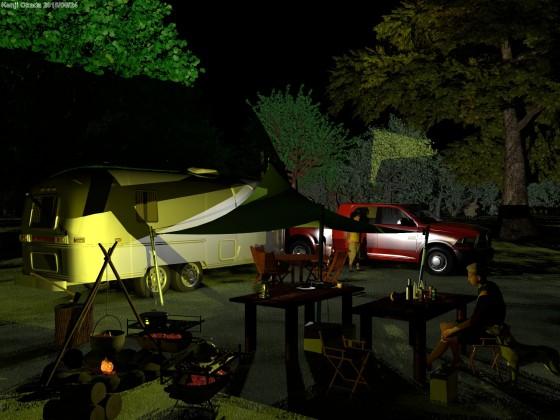 オートキャンプの夜