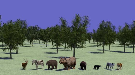 野生動物の3Dモデリングデータ(その2)