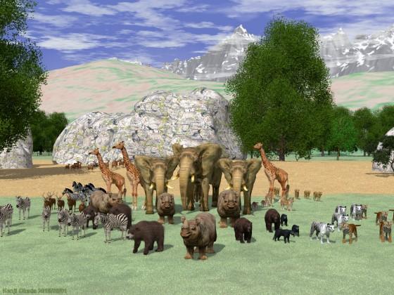 野生動物のあり得ない集合写真