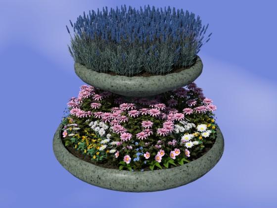 寄植えの大型植木鉢