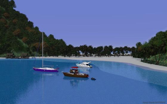 白い浜に囲まれた熱帯の島 その2