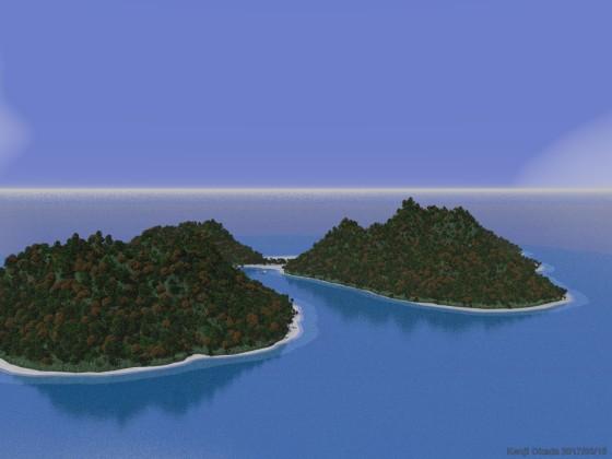 白い浜に囲まれた熱帯の島 その1