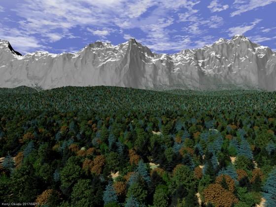 山脈と森林