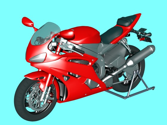 Ducati motorcycle red superbike