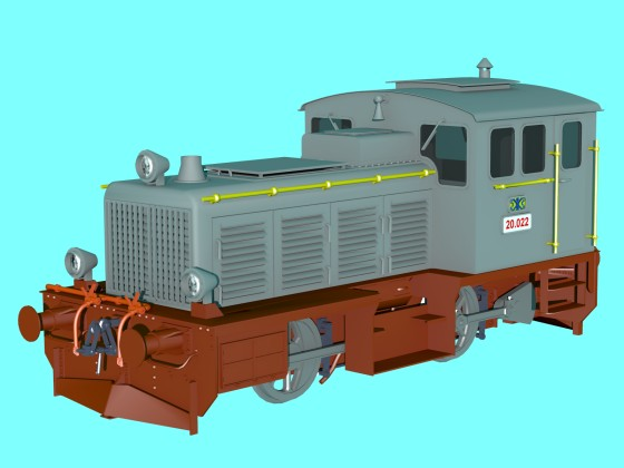 LDM-12 Diesel Locomotive