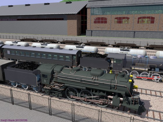 蒸気機関車・列車と操車場