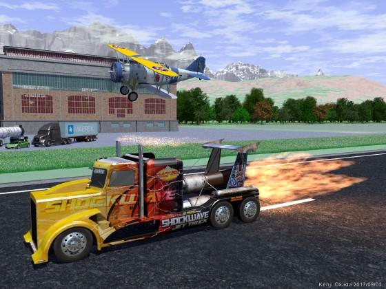 爆走する Shockwave Jet Truck