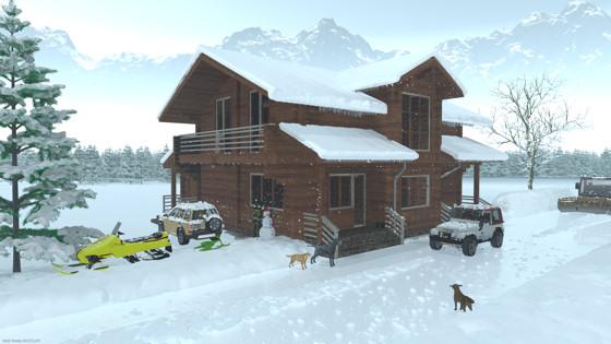 雪のログハウス(その2)