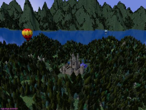 山頂の中世風城