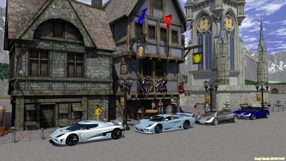 ドラゴン印の宿とスーパーカー