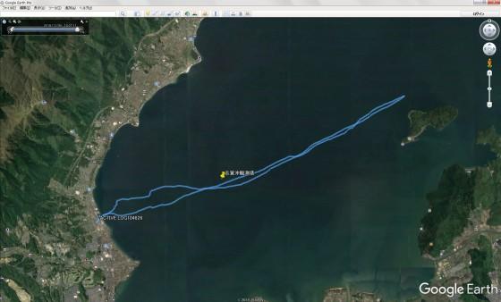 GPSのトラッキングデータをGoogle Earthで表示