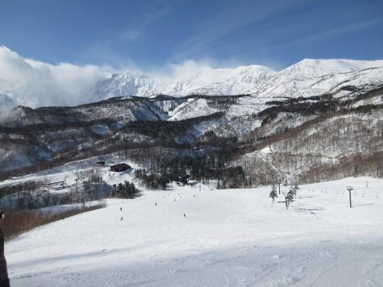 2020-01-24_1230_栂の森ゲレンデ最上部から見た白馬岳と小蓮華山_IMG_1881_s.JPG