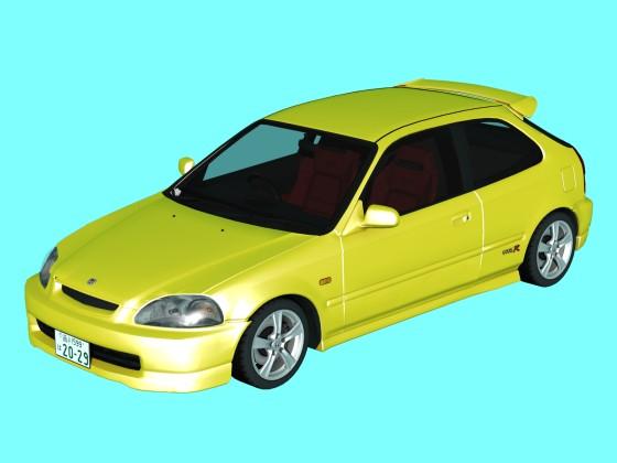 3D Honda Civic Type R EK9